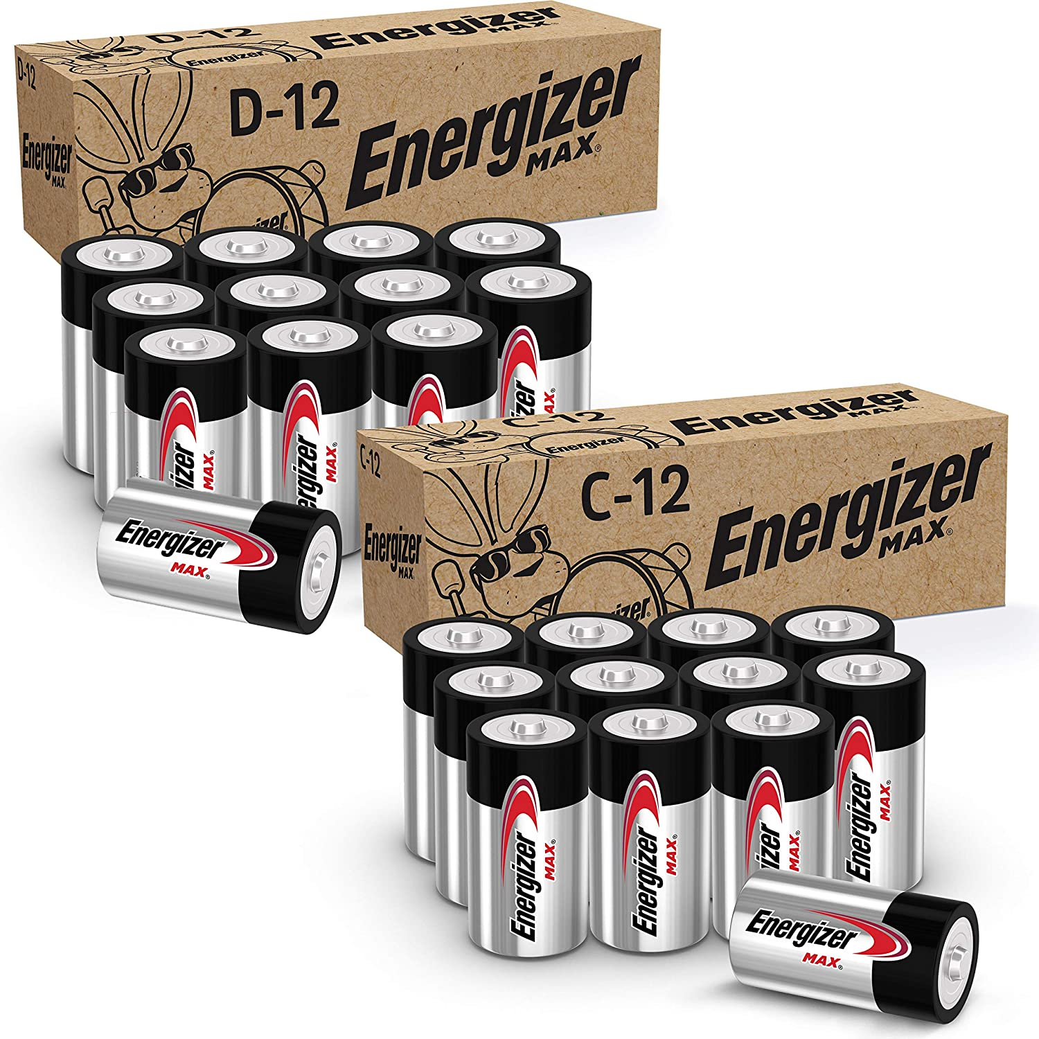 Energizer MAX Fort Worth Mall C Batteries and 1 Pack Columbus Mall D Combo 12