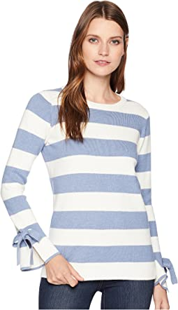 Myanna Tie Sleeve Sweater