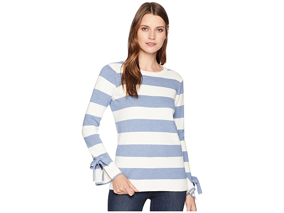 Joules Myanna Tie Sleeve Sweater (Light Blue Stripe) Women