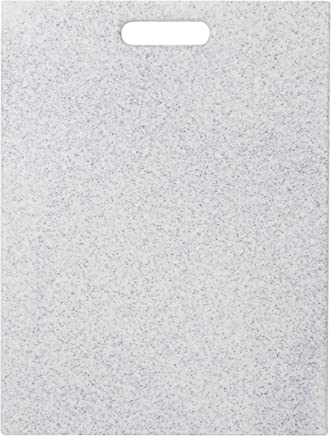 """EcoSmart PolyCoco Cutting Board, Light Gray, 12"""" by 16"""", Recycled Plastic and Coconut Shell, Made in The USA by Architec"""