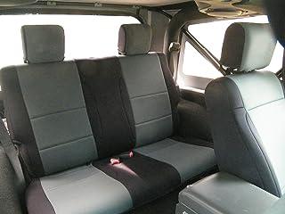 Coverking SPC208 Custom Fit Seat Cover for Jeep Wrangler JK 2-Door - (Neoprene, Black/Charcoal)