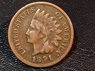 1891 U.S. Indian Head Cent / Penny Circulated