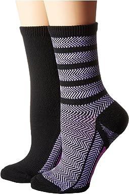 adidas - Studio 2-Pack Crew Socks