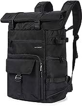 BAGSMART Camera Backpack Professional DSLR SLR Camera Bag Fit up to 200-400mm Lens, 15.6inch Laptop, DJI Mavic Pro with Waterproof Rain Cover, Tripod Holder, Black