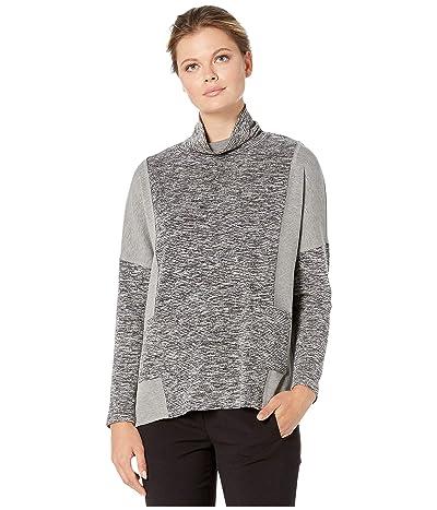 Karen Kane Contrast Pocket Turtleneck Top (Gray) Women