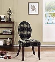 كرسي أكسنت للأثاث من كينجز براند، متعدد الألوان/كرزي داكن