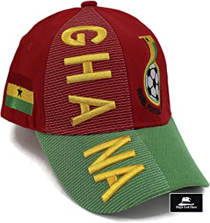 """High End Hats """"Nations of Africa Hat Collection"""" 3D Embroidered Adjustable Baseball Cap Includes 1-Year Warranty"""
