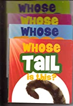 Set of 4 John Tedesco Books: Whose Tail is This; Whose Feet Are Those; Whose Nose is This; Whose Eyes Are These (A Lift-A-Flap Book)