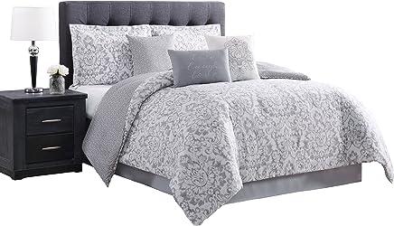 Carmela Home Boutique Comforter Set,  King,  Gray