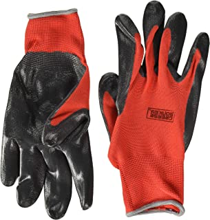 Grease Monkey Nitrile Coated Work Gloves with Grip, Mechanics Gloves, Work Gloves, All Purpose Gloves, 15 Pair Large