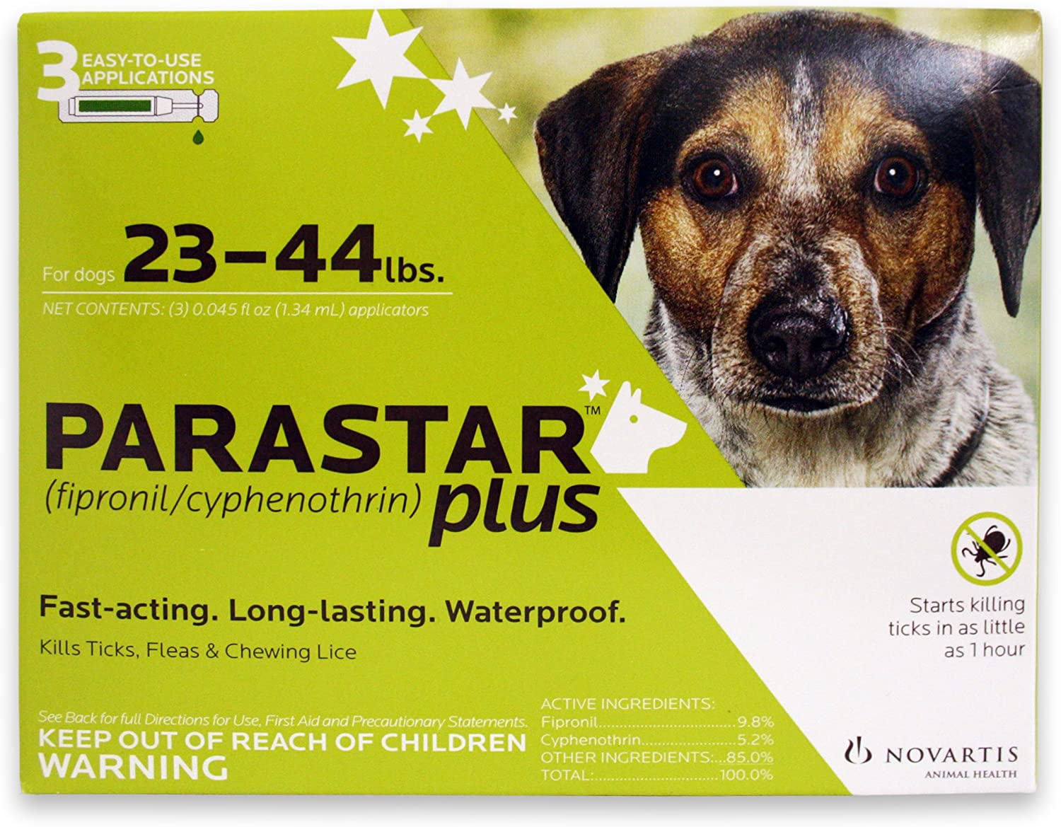 Novartis Parastar Limited time trial price Plus Flea and Max 52% OFF Tick Control 23 to 44- Dogs for