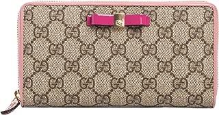 Gucci Leather GG Supreme Moon Beige ebony Nero Pearl Stud Signature Black Brown Box Authentic New