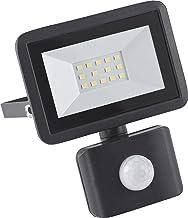 Meister LED-buitenspot - zwart - 10 Watt - 800 lumen - voor vaste installatie aan huismuren - met PIR-bewegingsmelder - IP...