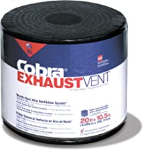 GAF Materials 2005 Cobra Shingle Over Coil Ridge Vent, 10-1/2 in W X 20 Ft Roll L, High-Impact Polymer, 20' x 10.5