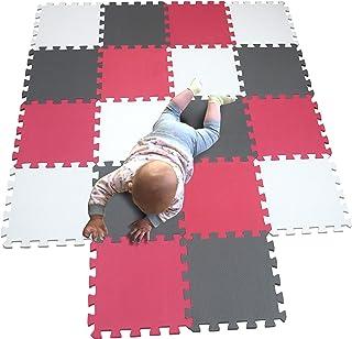 Best MQIAOHAM Children Puzzle mat Play mat Squares Play mat Tiles Baby mats for Floor Puzzle mat Soft Play mats Girl playmat Carpet Interlocking Foam Floor mats for Baby White Rose Grey 101109112 Review