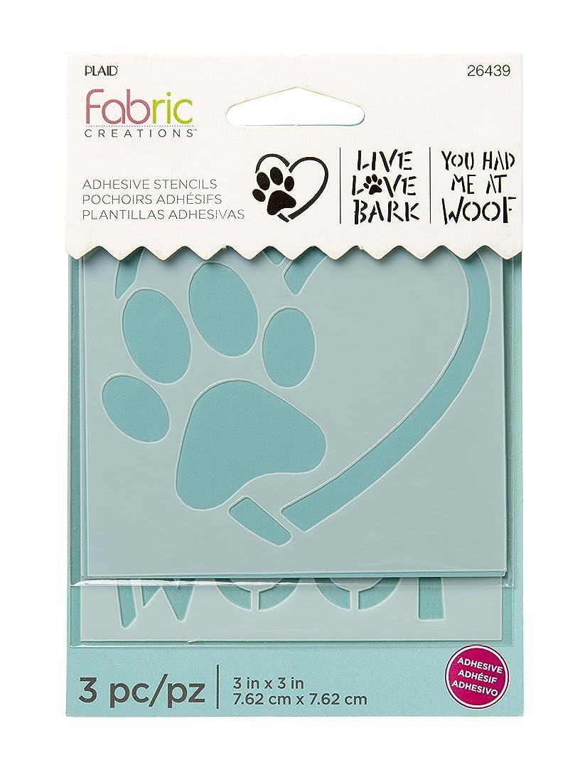 Fabric Creations 26439 Adhesive Dog Stencil, 3
