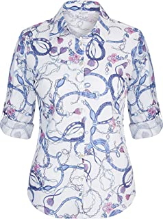 W.Lane Floral Rope Print Blouse Ocean Multi 18 - Womens