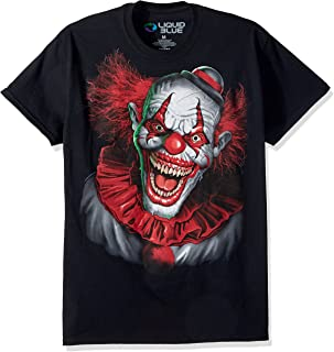 Liquid Blue Plus Size Fantasy Scary Clown Short Sleeve T-Shirt
