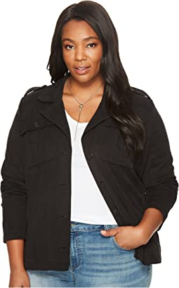 Lucky Brand - Plus Size Cropped Military Jacket
