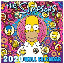 iPosters Bundle - 2 Items - The Simpsons Official 2020 Wall Calendar - Closed Size : 30 x 30 cm (12 x 12 Inches) and a Sheet of 70 Multi Colour Self Adhesive Dot Stickers