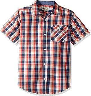 Lucky Brand Boys' Short Sleeve Plaid Shirt