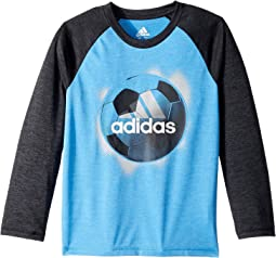 adidas Kids - Logo Sport Ball Tee (Toddler/Little Kids)