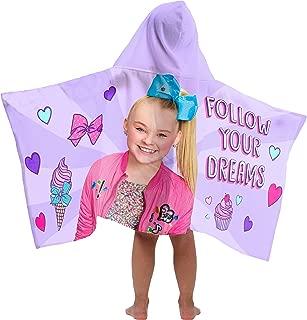Jay Franco Nickelodeon JoJo Siwa Follow Your Dreams Hooded Bath/Pool/Beach Towel, Purple