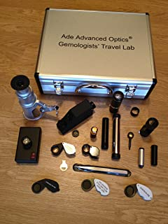Gemologists' Travel/portable Lab Suitcase. Including Microscope, Dichroscope, Spectroscope, Chelsea Filter, Ruby Filter, Jadeite Filter, Polariscope, Darkfield Loupe, Uv Magnifier, Gem Refractometer, Polariscope, Conoscope, Refractive Index Liquid Oil, Gem Tweizer and Etc.