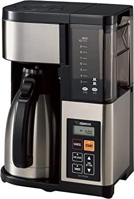 Zojirushi EC-YTC100XB Coffee Maker, 10-Cup, Stainless Steel/Black