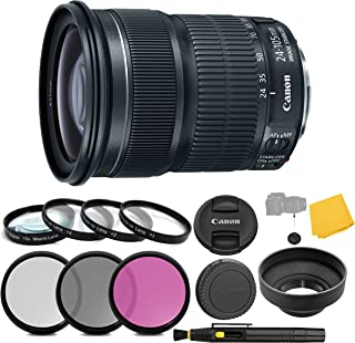 Canon EF 24-105mm f/3.5-5.6 is STM Lens + 3 Piece Filter Set + 4 Piece Close Up Macro Filters + Lens Cleaning Pen + Pro Ac...