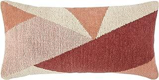 Rivet Modern Geometric Throw Pillow - 12 x 24 Inch, Pink