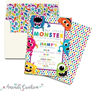 Monster Bash Playful Monsters Birthday Party Invitation