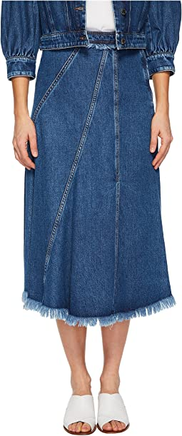 Sportmax - A-Line Denim Midi Skirt