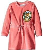mini rodini - Fox Velour Dress (Infant/Toddler/Little Kids/Big Kids)