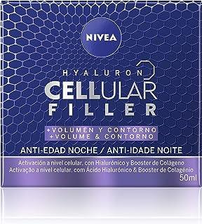 NIVEA Hyaluron Cellular Filler + Volumen y Contorno Cuidado de Noche (1 x 50 ml) crema de noche facial crema de volumen...