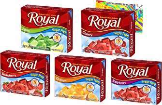 Jello Shot Bundle with Sugar Free Royal Gelatin. Five Exciting Sugar Free Flavors! Strawberry, Lime, Raspberry, Orange, an...