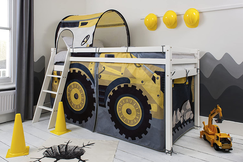 Tu satisfacción es nuestro objetivo Cama alta con con con diseño de excavadora y túnel  venta al por mayor barato