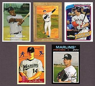 Miami Marlins (5) Card Heros REPRINT Baseball Lot #51 (Miguel Cabrera) (Josh Willingham) (Hanley Rimirez) (Anibal Sanchez) (Giancarlo Stanton) Florida