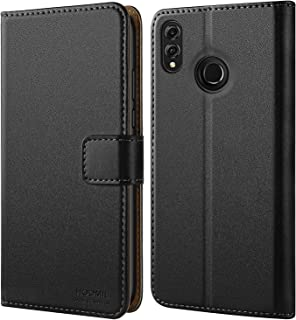 HOOMIL Case Compatible for Huawei Honor 8X, Premium Leather Flip Wallet Phone Case for Huawei Honor 8X/View 10 Lite Smartphone (Black)