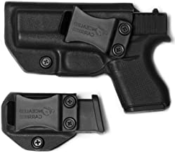 IWB Glock 43 / Glock 43X Holster with Magazine Holster (not 43X mag)   Made in USA by Combat Veteran Owned Company   Mag Pouch   Concealed Carry Clip CCW Holsters Inside The Waistband