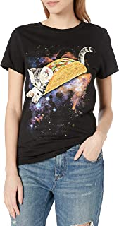 Goodie Two Sleeves Juniors Kitty Taco Graphic Tee