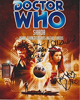 Tom Baker / Lalla Ward / Daniel Hill Dr. Who Original Autographed 8X10 Photo