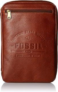 Fossil mens Tech Pouch Cognac Tablet Cover, Cognac, 11.25 L x 8.25 W 1.75 H US