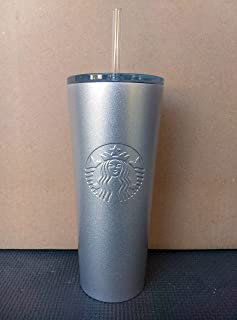 Starbucks 2018 Holiday Black and Silver Sequins Tumbler Cup 24oz Cold Cup