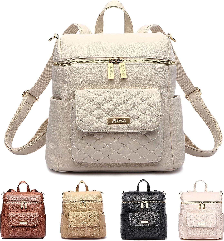 Petit Monaco Diaper Bag Backpack by Luli Bebe - Chic Vegan Leather Diaper Bag Backpack with Stroller Straps