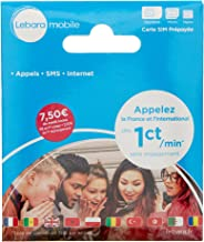 Lebara - SIM Card - French Number Incl EUR 7,50 Call Credit International Sim Card - Pay As You Go Prepaid Sim Cards Cheap International Calls