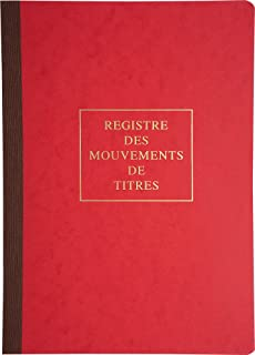 Le Dauphin - Réf. 90120D - 1 Piqûre - Dimensions 29,7 X 21 cm - Format A4 - Registre des mouvements de titres 40 pages - C...