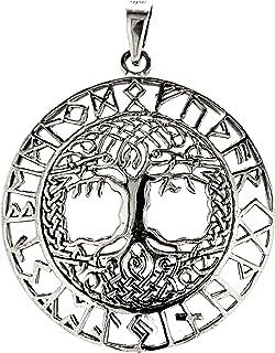 Grand pendentif en forme d\u0027arbre de vie en argent sterling 925, n°