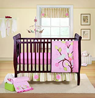 Bananafish 3 Piece Crib Set, Love Bird (Discontinued by Manufacturer)