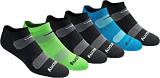 Saucony Men's Multi-pack Mesh Ventilating Comfort Fit Performance No-Show Socks